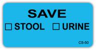CS-50 Cage Stickers - Save Stool/Urine