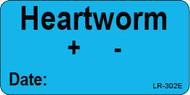 LR-302E Lab Result Stickers - Heartworm test
