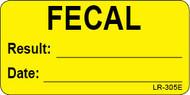 LR-305E Lab Result Stickers - Fecal test