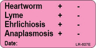 LR-607E Lab Result Sticker - Heartworm/Lyme/Ehrlichiosis/Anaplasmosis test result