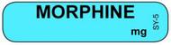 SY-5 Syringe Label - Morphine