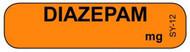 SY-12 Syringe Label - Diazepam