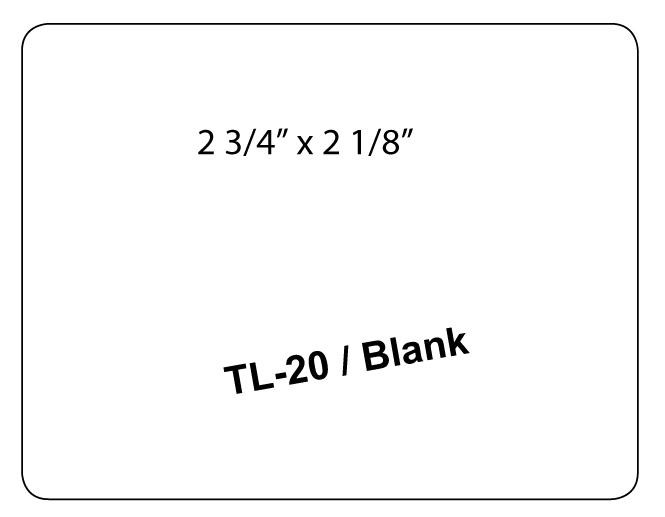 TL-20/BLANK Dymo Pharmacy Labels