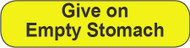 C-30 Medication Instruction Sticker - Give on empty stomach