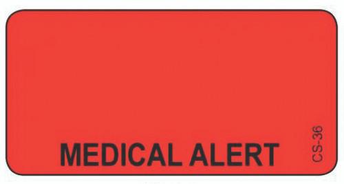 CS-36 Cage Stickers - Medical Alert