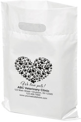 "PTS5 - Personalized Plastic Tote Bag - 9"" x 12"""