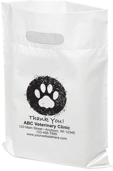 """PTS7 - Personalized Plastic Tote Bag - 9"""" x 12"""""""