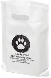 "PTL7 - Personalized Plastic Tote Bag - 12"" x 15"""