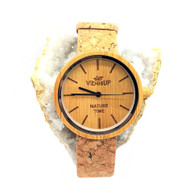 Vibe Therapy Cork & Bamboo Watch