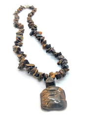 Tigers Eye Turtle Protection Necklace