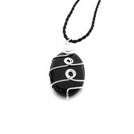 High End Wire Wrapped Shungite Pendant
