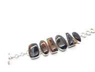 Pietersite CONDUCTIVE Silver Bracelet