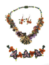 Beaded Garden Jewelry set
