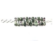 Seraphinite, Amethyst & Mystic Topaz Fancy CONDUCTIVE SILVER Bracelet