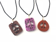 Gemstone Peace Pendants