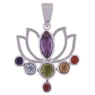 Chakra Lotus Pendant