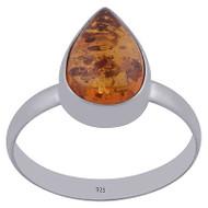 Amber Raindrop Ring