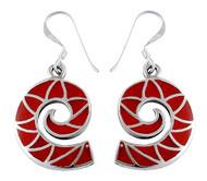 Crimson Waves Earrings