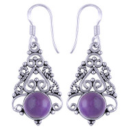 Elegant Sterling Silver Dangle Earrings