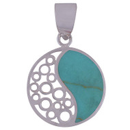 Petite Yin and Yang Sterling Silver Pendant