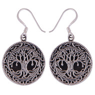 Cabochon Tree Earrings
