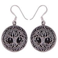 Cabochon Tree Earrings