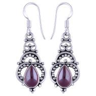 Gemstone HUGS Sterling Silver Earrings