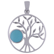 Sterling Silver Tree Pendant