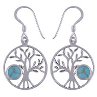 Sterling Silver Tree Earrings