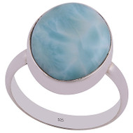 Larimar Rings Sterling Silver