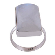 Moonstone Square Ring