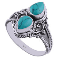Turquoise Reflections Ring Size 6