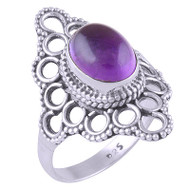Purple Gemdrops Ring