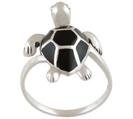 Under the Sea Onyx Turtle Ring