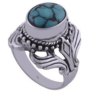 Deep Sea Sterling Silver Ring