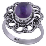 Endless Waves Amethyst Ring