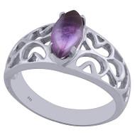 Simple Royal Amethyst Ring