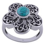 Silver Petals Ring