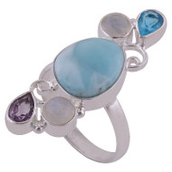 Larimar Treasure Trove Ring