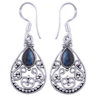 Gemstone Raindrop Earrings