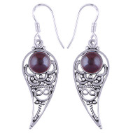 Paisley Garnet Earrings