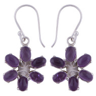 Royal Flower Amethyst Earrings
