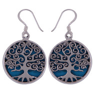 Turquoise Tree of Life Earrings 8 Gram