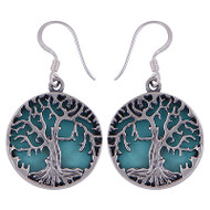 Turquoise Tree of Life Earrings 8 Gram