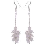 Moonstone Shimmer Dangle Earrings