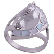 Grand Silver Horse Ring