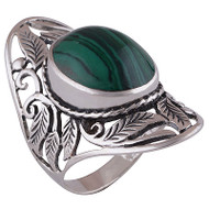Grand Malachite Ring Size 6.5