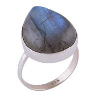 Labradorite Raindrop Ring