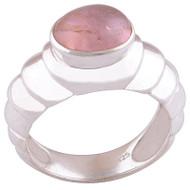 Pink Tourmaline Silver Ring
