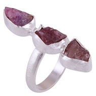 Raw Pink Tourmaline Ring Size 5.5